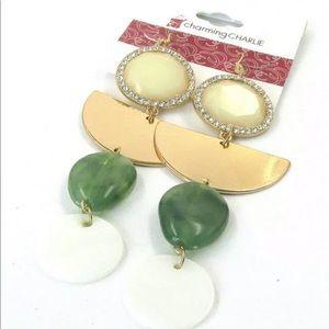 🔲Charming Gemstone Dangle earrings 🔲